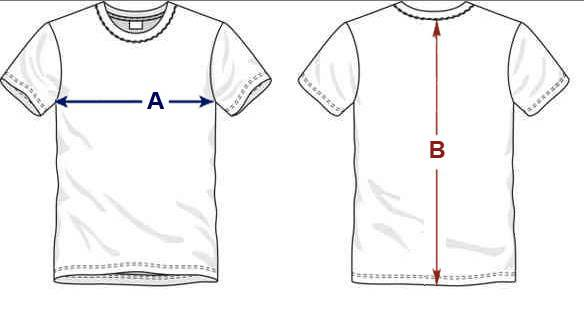 t-shirt sizes